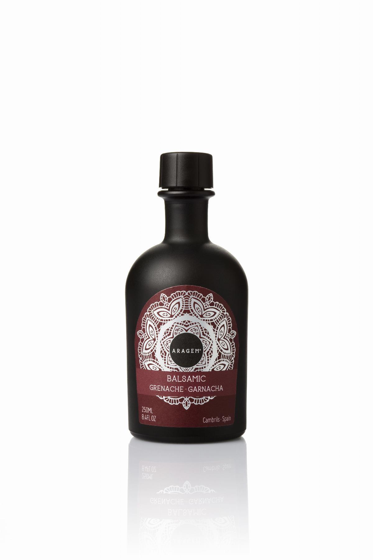 Vinaigre - Vinagre Balsàmic Garnatxa Aragem, ampolla negra 250ml. ES-EN - Mestral Cambrils