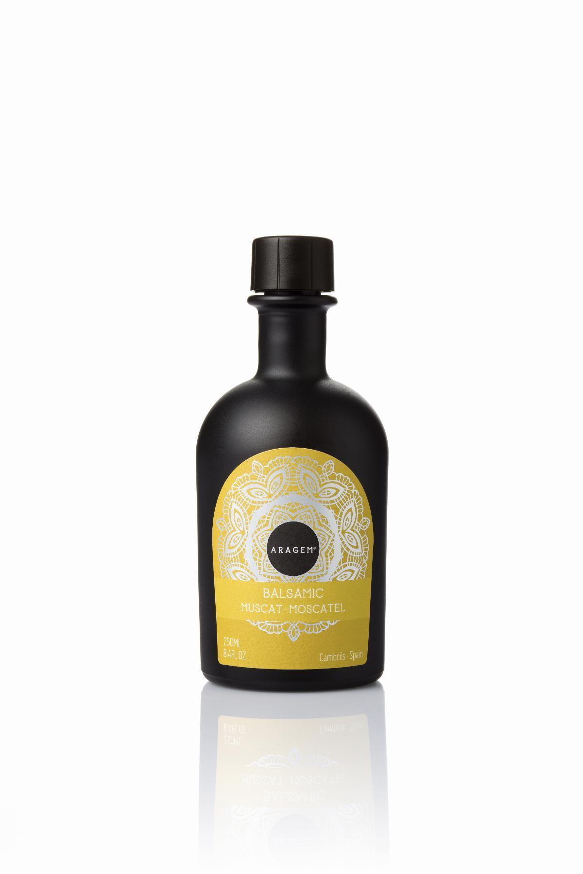 Vinagre  - Vinagre Balsámico de Moscatel Aragem, botella negra 250 ml - Mestral Cambrils