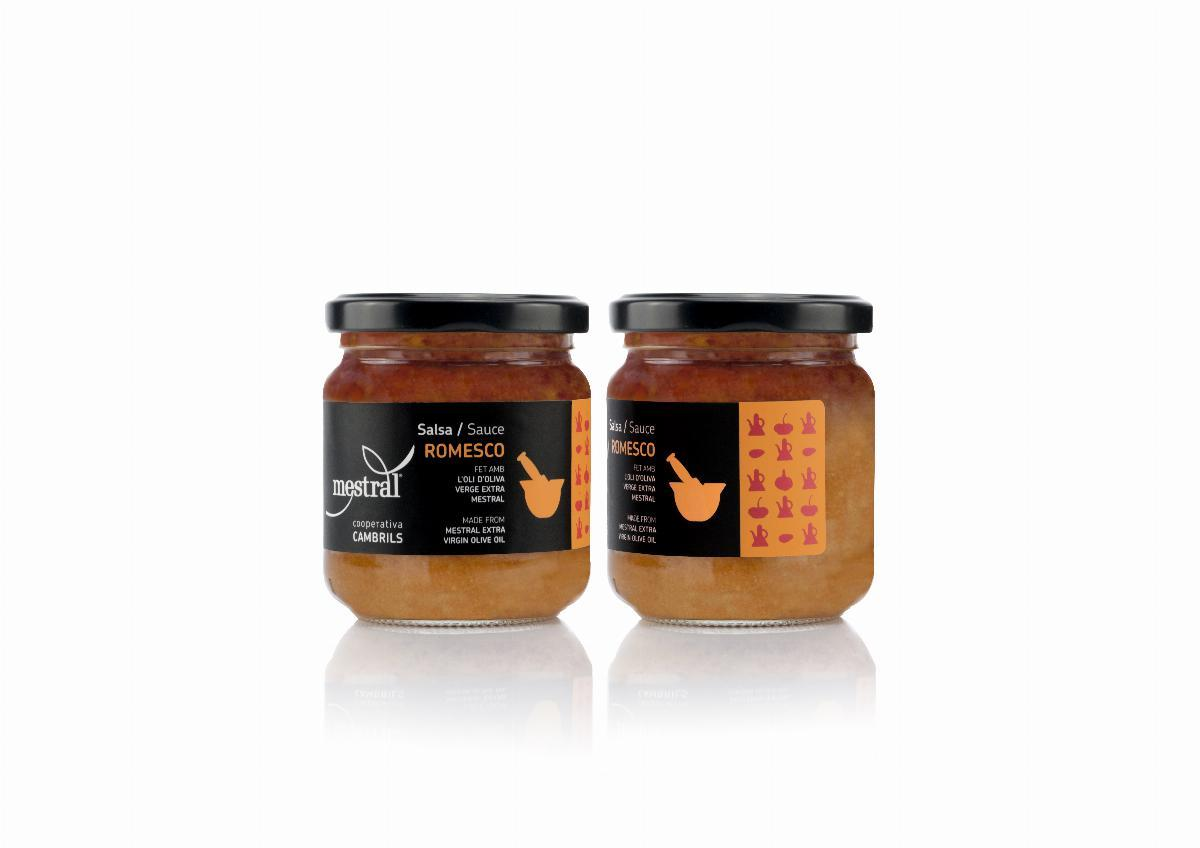 Salsa Romesco Mestral, pot transparent 185g, CAT-ES-EN-NL-AL