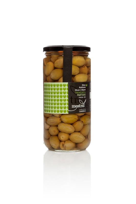 Olives Trencades Mestral, pot transparent 440g CAT-ES-EN-FR-DE-NL