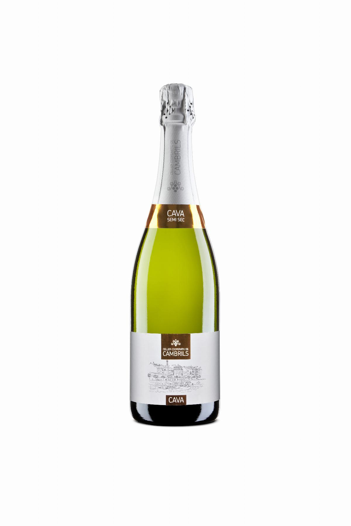 Cava Celler Cooperatiu Cambrils Semi-Sec, 750ml, CAT