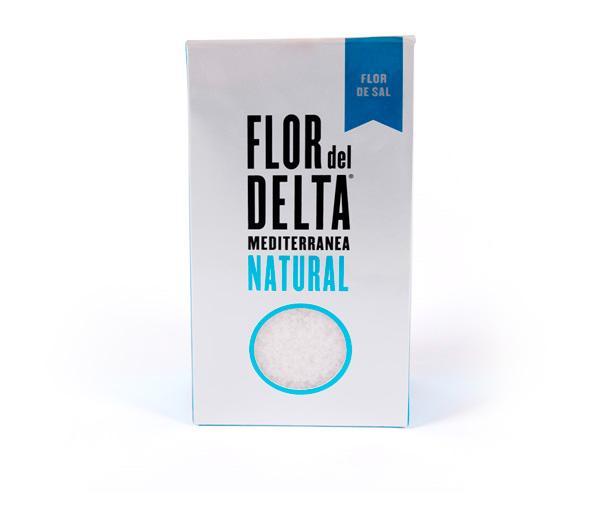 Sal del Delta - Flor de Sal Natural Flor del Delta caja doypack 125g - Mestral Cambrils