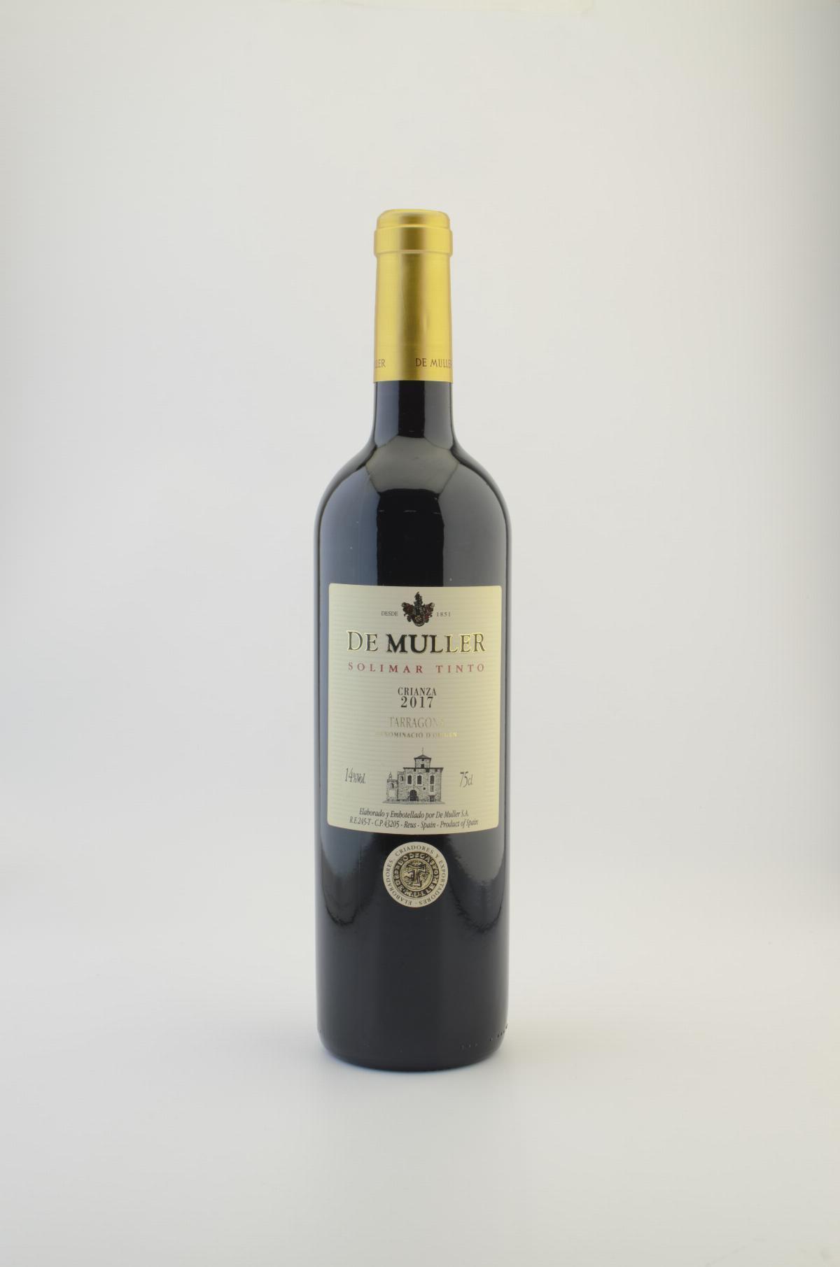 Vinos - Vino Tinto Solimar De Muller DO Tarragona 75 cL - Mestral Cambrils