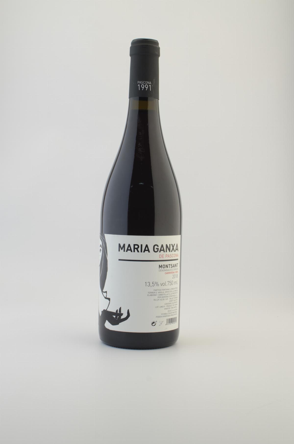 Les vins - Vi Negre Maria Ganxa Pascona DO Montsant 75 cl. - Mestral Cambrils