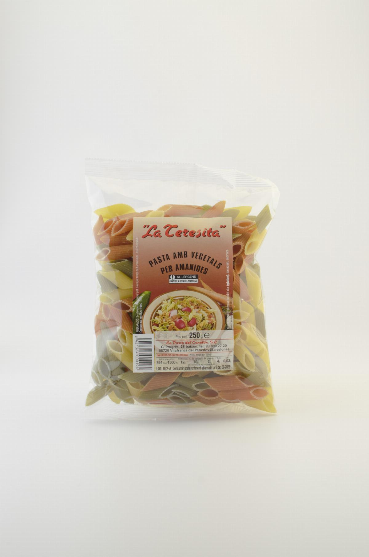 Pasta - Penne pasta tricolour with vegetables La Teresita 250g - Mestral Cambrils