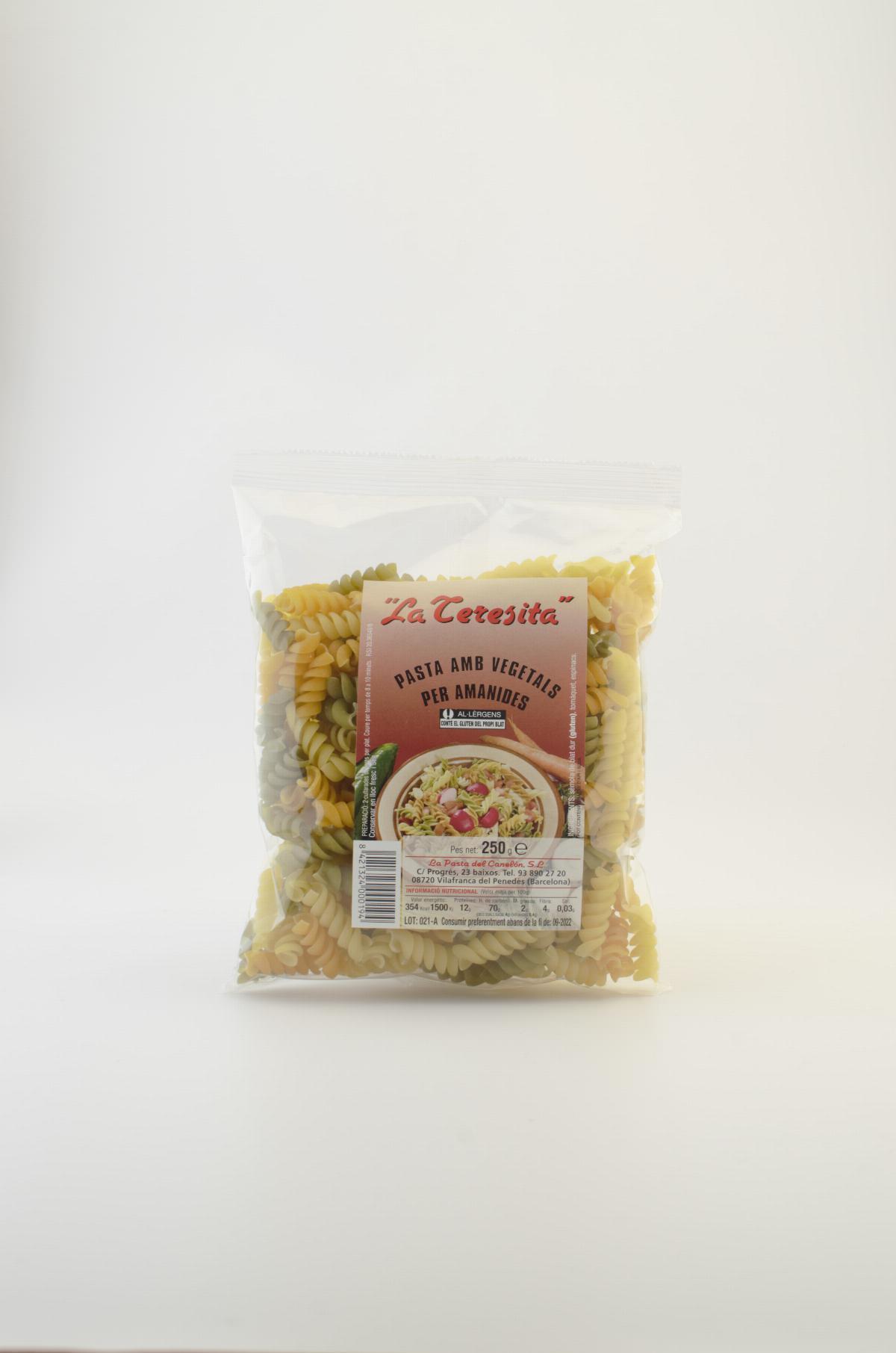 Pasta - Pâte Fusilli avec legumes La Teresita 250g - Mestral Cambrils