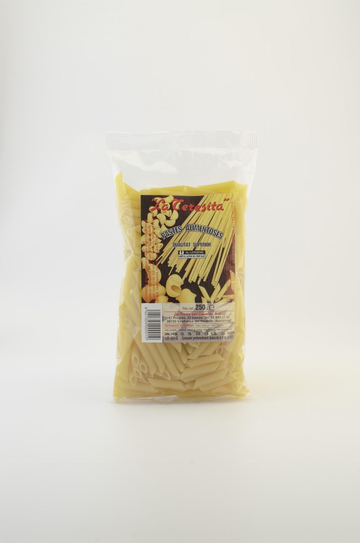 Pasta - La Teresita Traditional Pasta Penne 250g - Mestral Cambrils