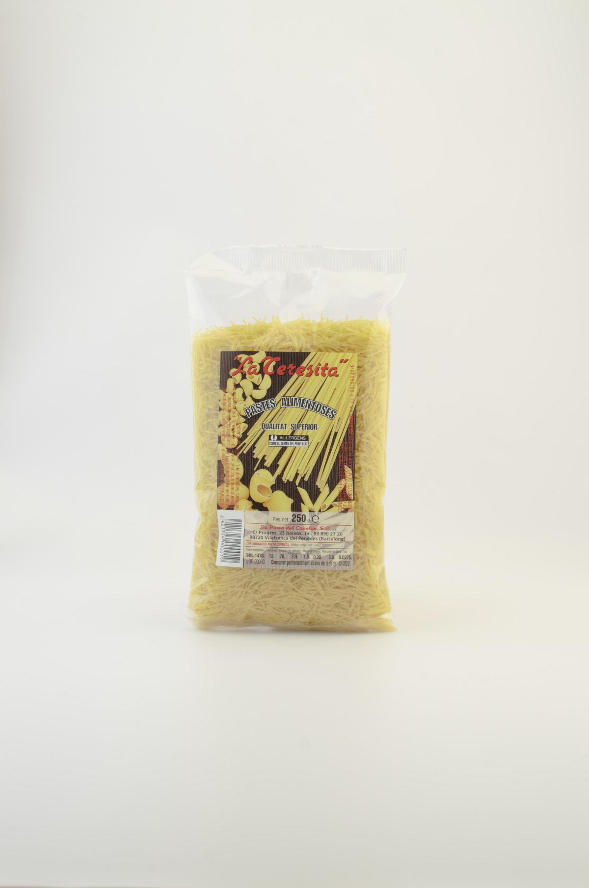 Pasta tradicional sopa de fideus cabell d'àngel La Teresita 250g