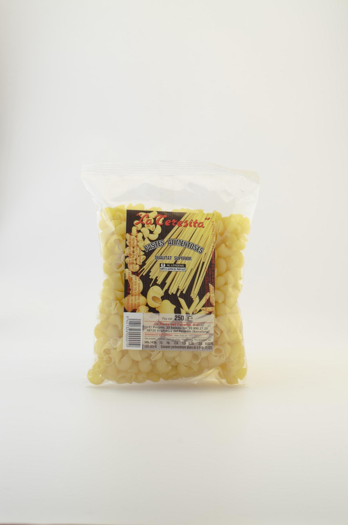 Pasta tradicional colzes mitjans (galets) La Teresita 250g