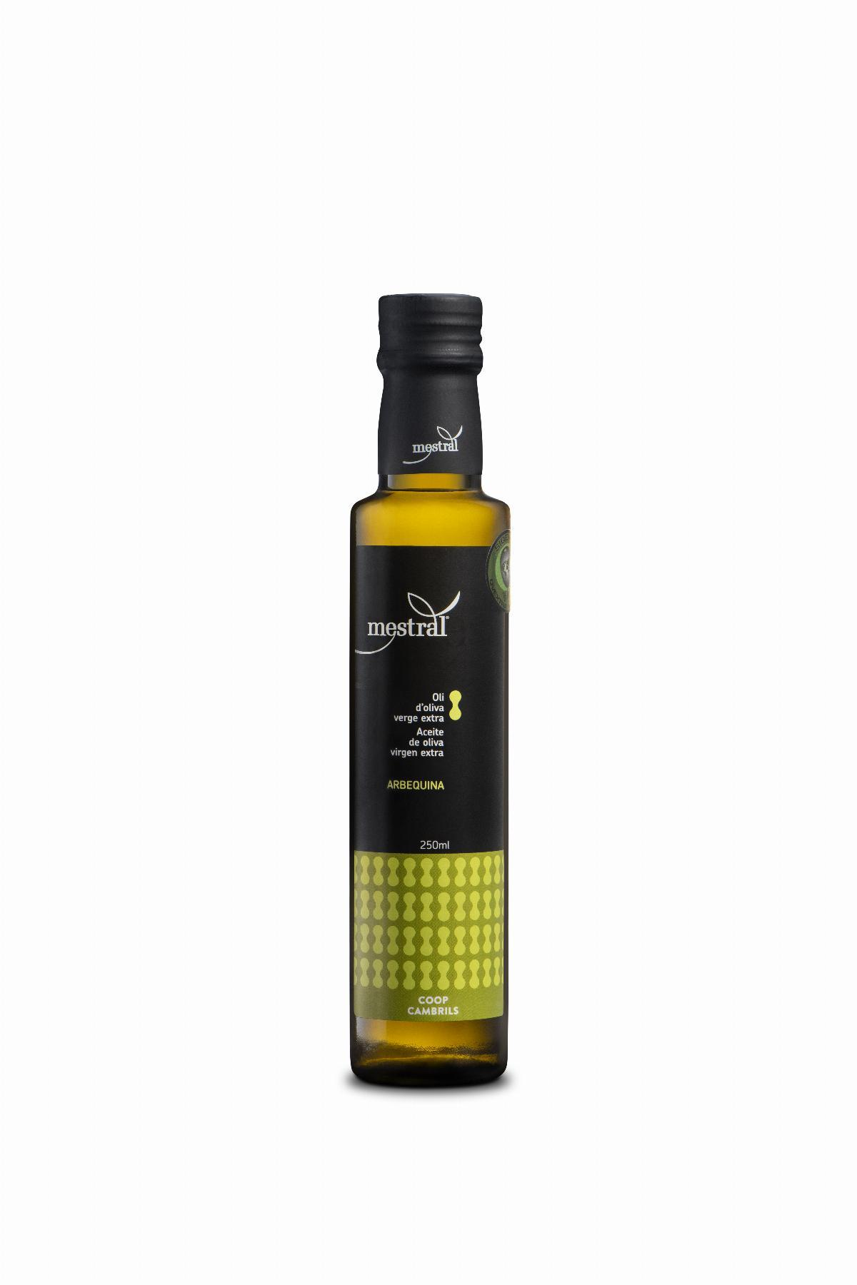 Olive Oil & Seasonings - Mestral Extra Virgin Olive Oil Dorica dark glass bottle 250 ml - Mestral Cambrils