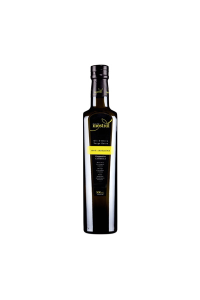 Olive Oil & Seasonings - Mestral Extra Virgin Olive Oil Premium glass bottle 500ml - Mestral Cambrils