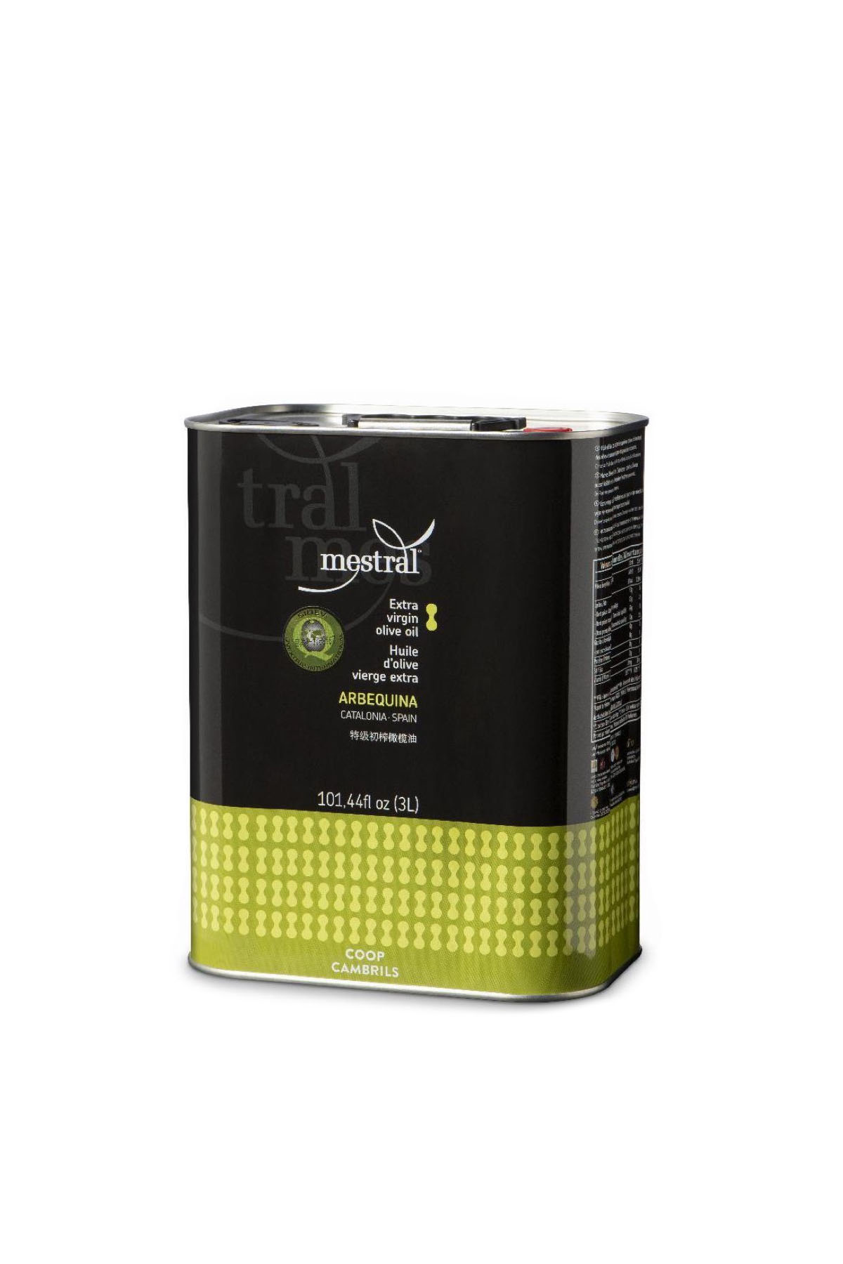 Mestral Extra Virgin Olive Oil tin 3 L