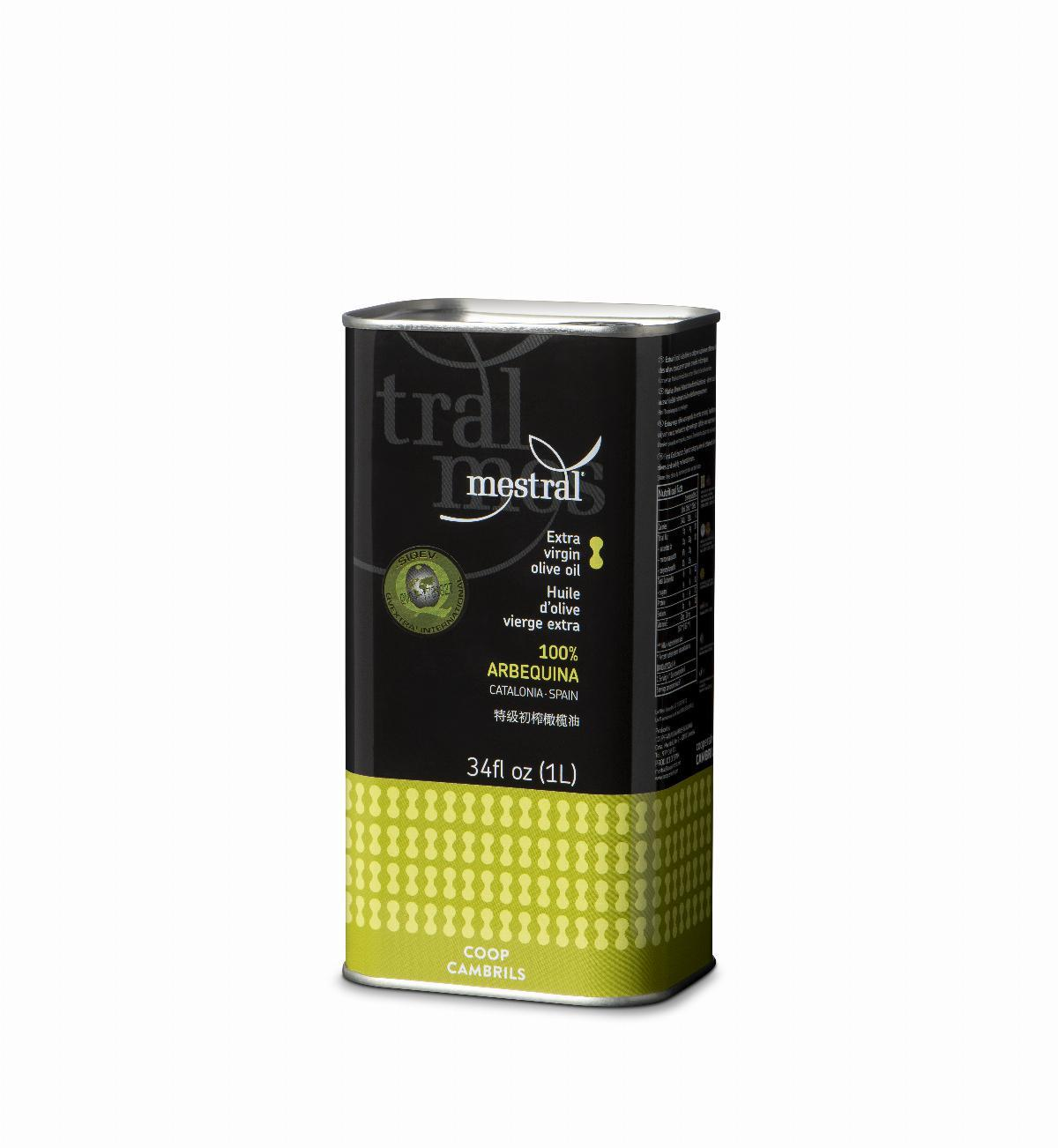 Mestral Extra Virgin Olive Oil tin 1 L