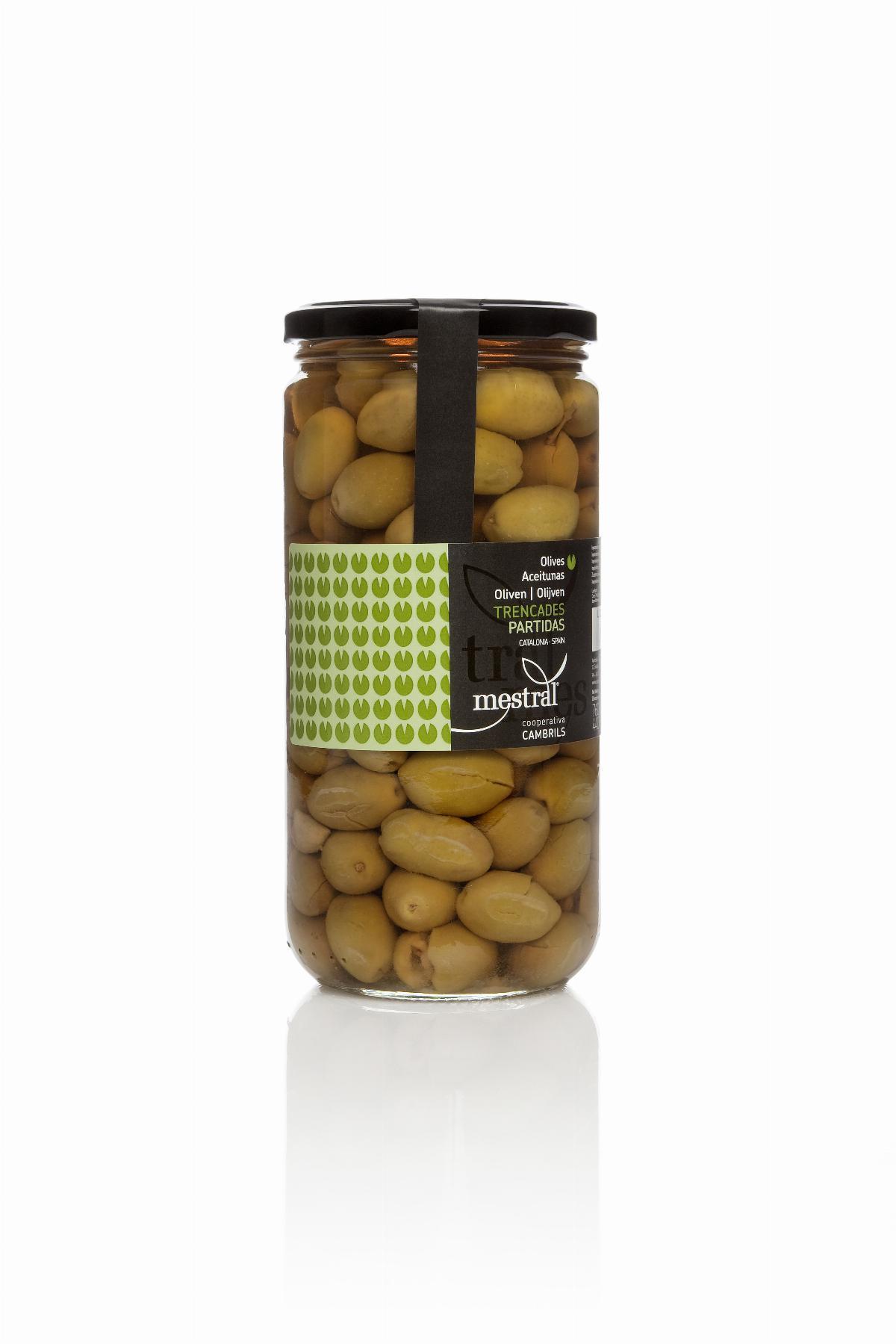 Olives - Olives trencades Mestral pot vidre 440 g - Mestral Cambrils