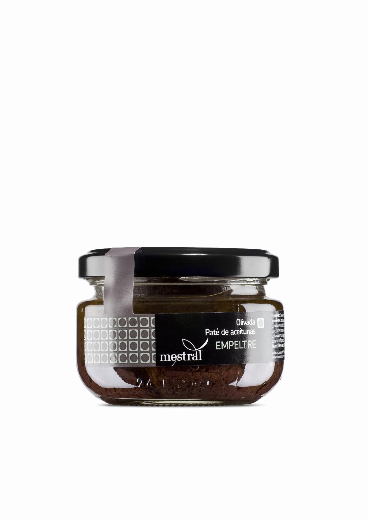 Olive Paste - Mestral Empeltre Olive Paste glass jar 110 g - Mestral Cambrils