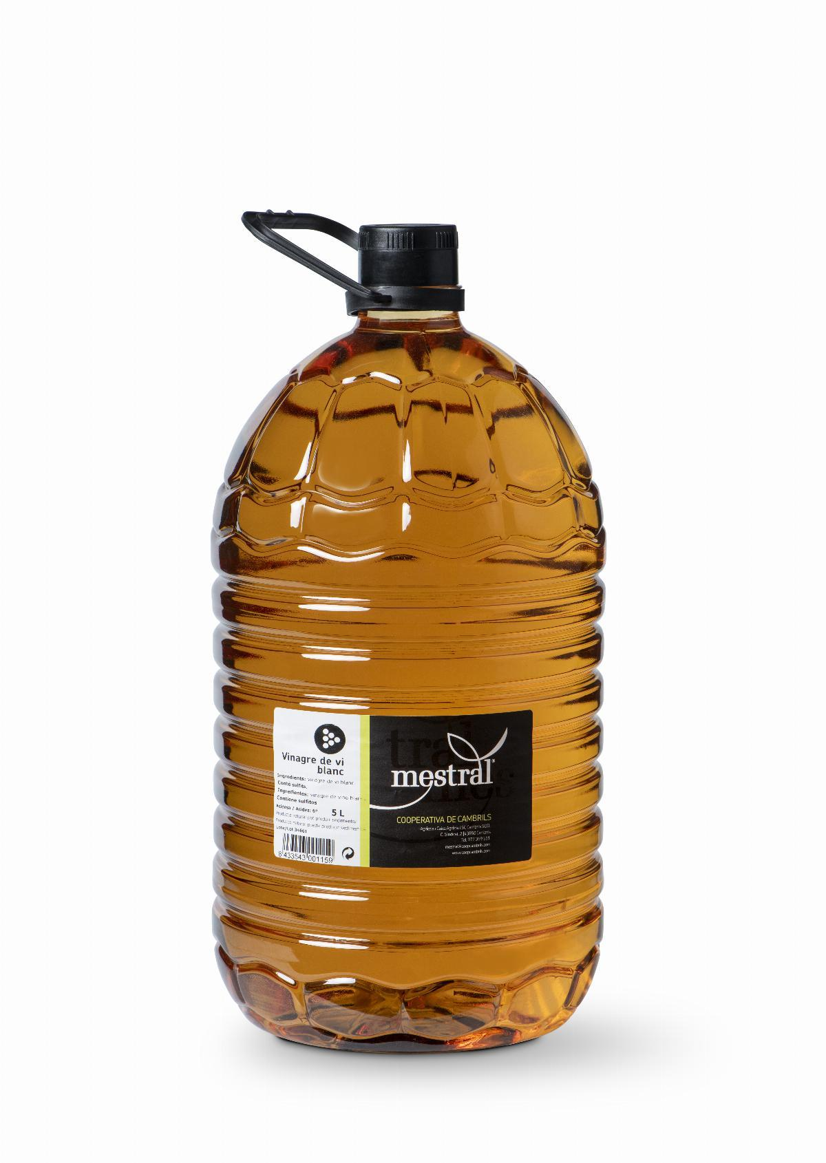 Vinagres - Vinagre Blanc Mestral 5 Litres - Mestral Cambrils