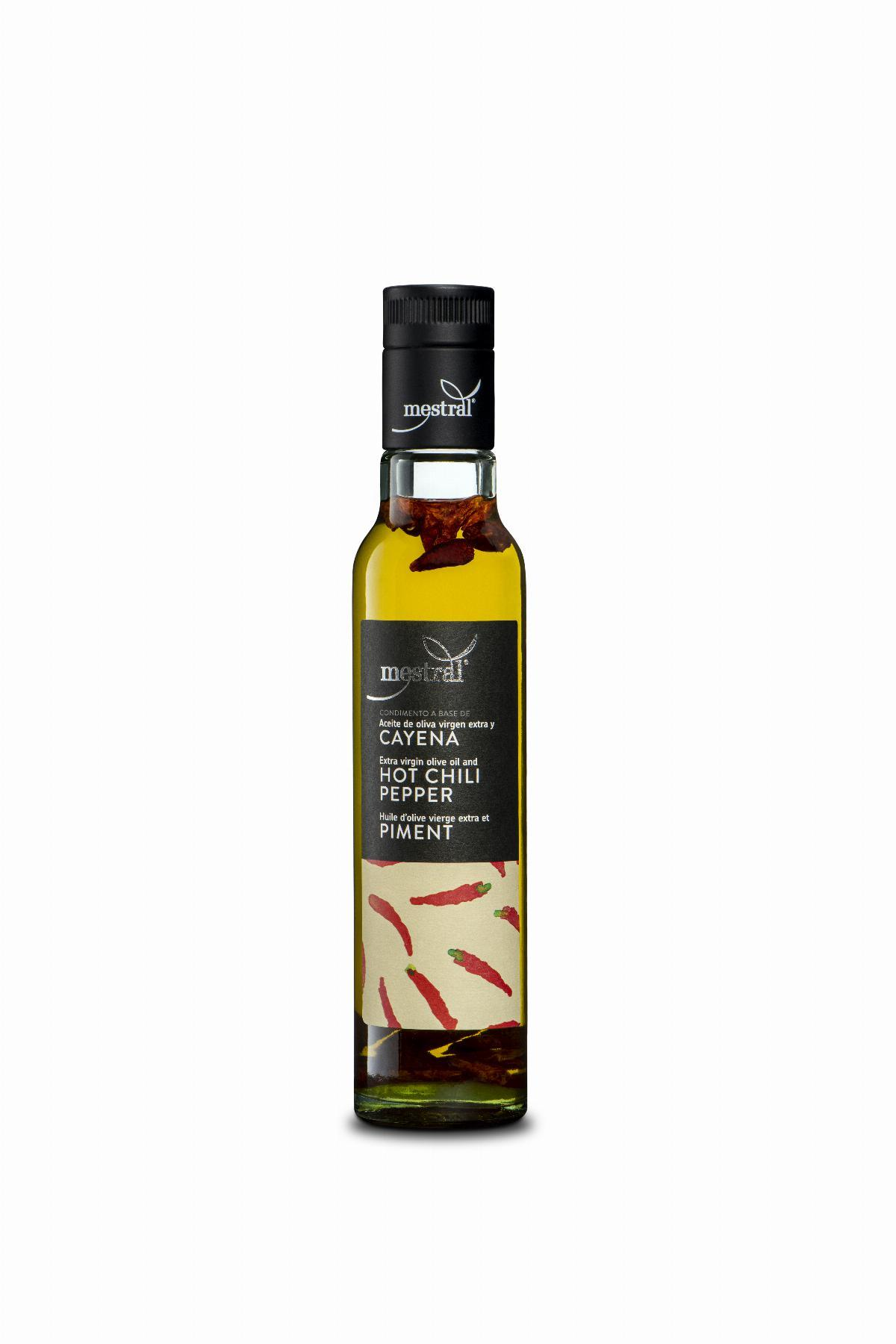 Mestral Extra Vigin Olive Oli and Hot Chili Pepper, bot. 250ml