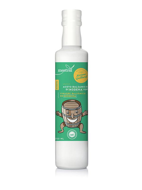 Vinagre Balsàmic de Mòdena Mestral, ampolla dòrica ceràmica, 250ml, ES-EN, Ed. Jérôme