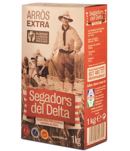 Arroz del Delta - Arroz Extra Segadors del Delta DOP caja cartón 1kg - Mestral Cambrils