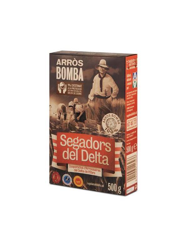 Arròs de Delta - Arròs Varietat Bomba Segadors del Delta DOP 500g caixa cartró - Mestral Cambrils