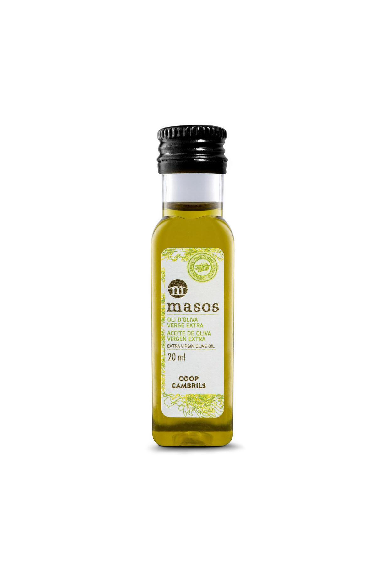 Olive Oil & Seasonings - Masos Coupage Extra Virgin Olive Oil bottle SINGLE DOSE 40 x 20 ml - Mestral Cambrils