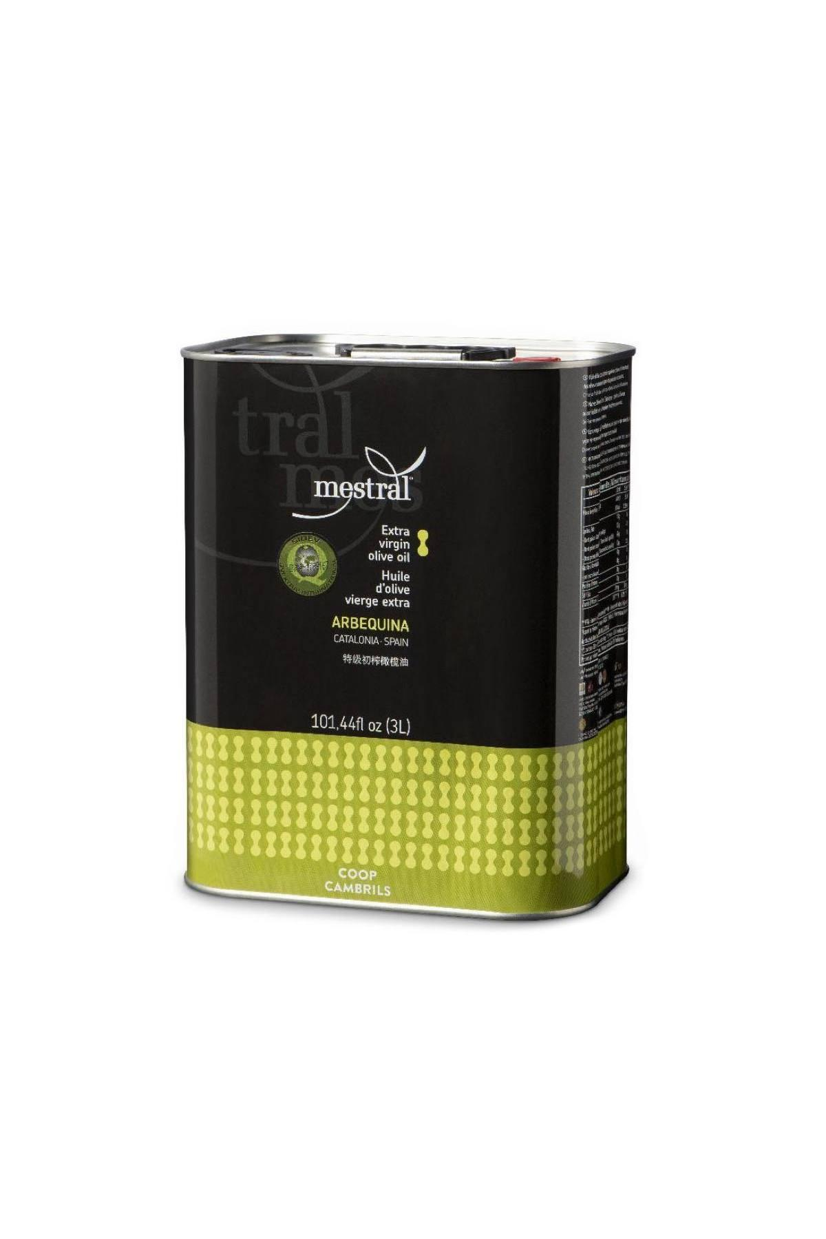Olive Oil & Seasonings - Mestral Extra Virgin Olive Oil tin 3 L - Mestral Cambrils